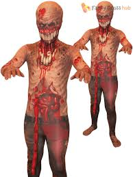 Zombie Halloween Costumes Morphsuit Monster Kids Boys Robot Zombie Halloween Fancy Dress