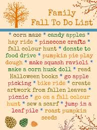 family fall to do list get ready to play and the fall
