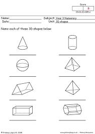 3d shapes worksheet worksheets