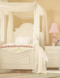 pink stained wooden single bed with white canopy curtain mixed traditional white stained wooden canopy bed