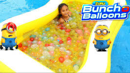 Challenge Water Balloon Minions Water Balloon Challenge Bunch O Balloons Zuru By