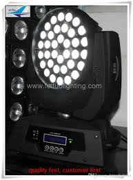 2018 disco lights price rgbw led color 36 10 watt led wash moving