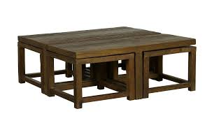 wood nesting coffee table best 20 of square dark wood coffee tables
