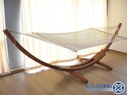 furniture enchanting oak wood frame lowes hammock with expanse