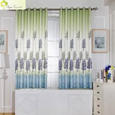 cuisine lavande lavande imprimé court rideaux pour fenêtre de la cuisine rideaux
