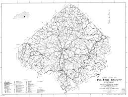Ky County Map Pulaski County Ky Highway Map In 1950 Curtis Colyer Family Of