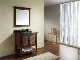 Wooden Bathroom Furniture Elegant Design Ideas Using Round Brown Mirrors And Round White