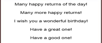 and different ways to wish happy birthday in