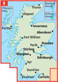 map of scotland and aa shop aa road map scotland