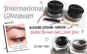 light brown gel eyeliner review bobbi brown long wear gel eyeliner giveaway