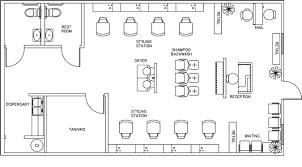 Beauty Salon Floor Plans | beauty salon floor plan design layout 1160 square foot salon