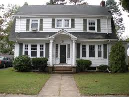 contemporary colonial house plans white house with gray shutters colonial house plans with modern