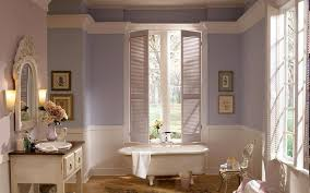 calming pale lavender paint colors for bathroom with white