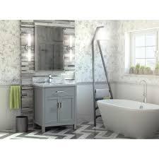 30 inch oxford gray finish transitional bathroom vanity cabinet