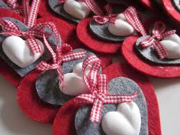 Felt Heart Christmas Ornaments Decorazioni Natalizie Fai Da Te Decorazioni In Feltro Fai Da Te