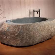 stone baths natural boulder freestanding bathtub stone forest