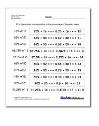 Number 2 Worksheet Percent Of A Number