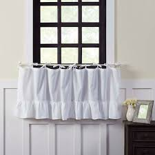 White Tie Curtains Ellie White Tie Top Tier Curtains 24 Primitive Quilt Shop