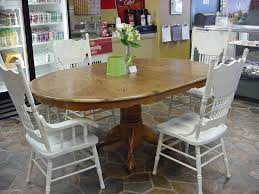 table personable round extending pedestal dining table oak tables