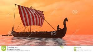 viking longship ventures stock photo image 66953136