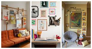 Picture Wall Collage by Alternative Framing Ideas How To Hang Pictures Without A Frame