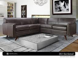corrigan studio ari mid century leather sectional u0026 reviews wayfair