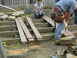 deck how to build ground level deck plans for all your home and