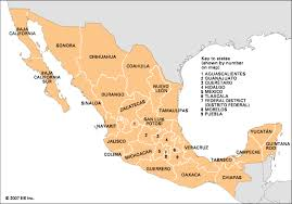 map of mexico with states mexico state government students britannica homework help