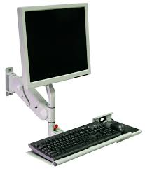 Computer Desk Arm Support Wall Mounted Monitor Support Arm Medical With Keyboard Arm