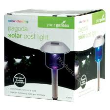Solar Powered Outdoor Lights by 4 X Colour Changing Solar Power Light Led Post Outdoor Lighting