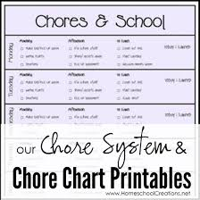 our chore system u0026 chore charts for kids printables