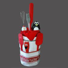 kitchen gift baskets penguin timer cake gift basket basketality