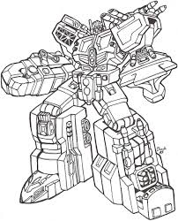 robot coloring page 4999