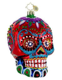 la calavera sugar skull personalized ornaments