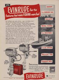 1958 evinrude motors color ad the fastwin 18 hp outboard motor