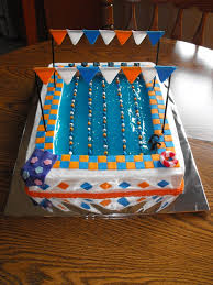 307 best swimming pool cakes images on pinterest swimming pool