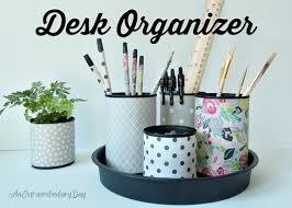 Desk Organizer Diy Diy Upcycled Desk Organizer Yesterday On Tuesday
