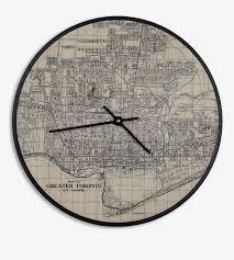 Vintage Map Vintage City Map Clock Home Decor U0026 Lighting Cardboard Safari