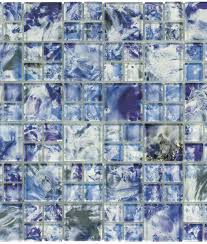 monet optic blue glass mosaic tile qdisurfaces