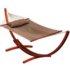 algoma 11 ft caribbean polyester hammock with wooden arc