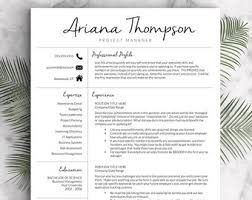 modern resume template for word and pages cover letter 1