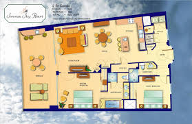 2 bedroom condo floor plans sonoran sky resort puerto penasco mexico
