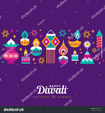 Diwali Invitation Cards Diwali Hindu Festival Greeting Card Modern Stock Vector 699305020