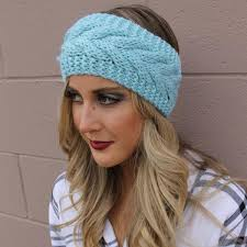 knitted headbands teal knit ear sleeve headbands of