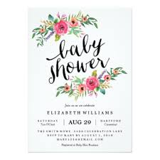 modern baby shower invitations announcements zazzle