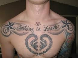 gallery for chest tattoos for quotes