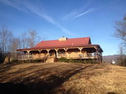Log Homes With Wrap Around Porches Hayesville Nc Mountain View Log Home Foreclosure