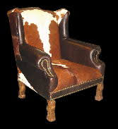 Cowhide Chairs And Ottomans Southwest And Western Chairs