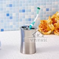 stainless steel bathroom sets toothbrush holder gargle cup soap
