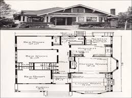 attractive design 3 vintage craftsman house plans small house